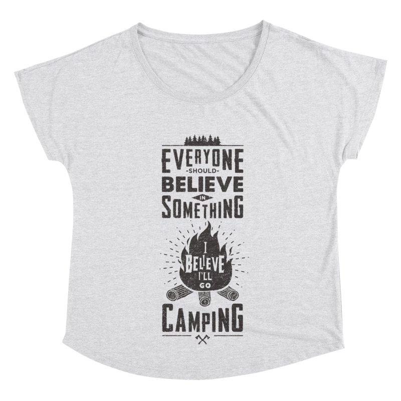 Camping Women's Scoop Neck by Gabriel Mihai Artist Shop