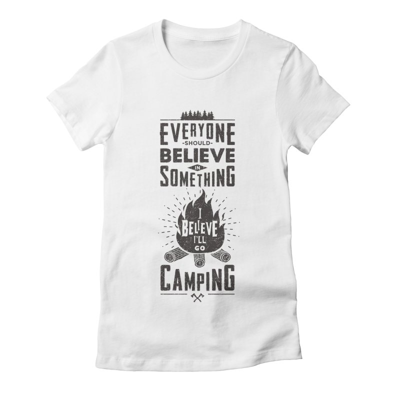 Camping Women's T-Shirt by Gabriel Mihai Artist Shop