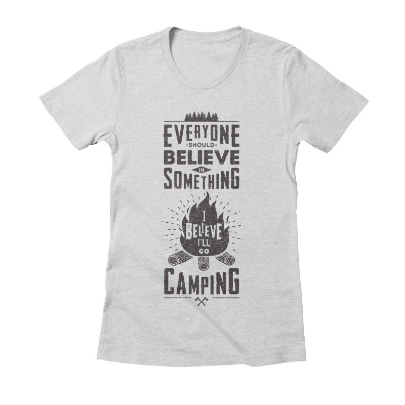 Camping Women's Fitted T-Shirt by Gabriel Mihai Artist Shop