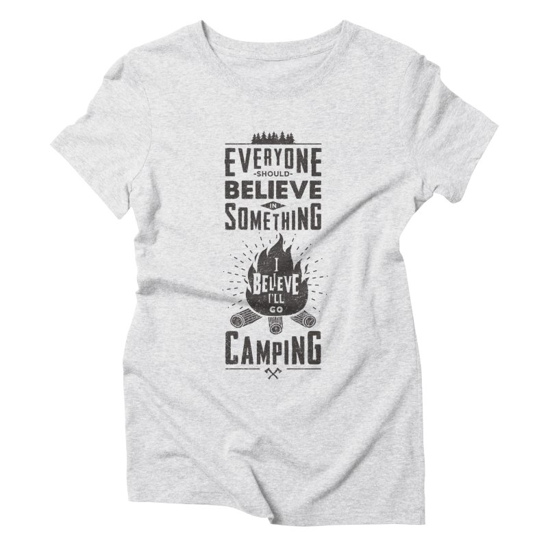 Camping Women's Triblend T-Shirt by Gabriel Mihai Artist Shop