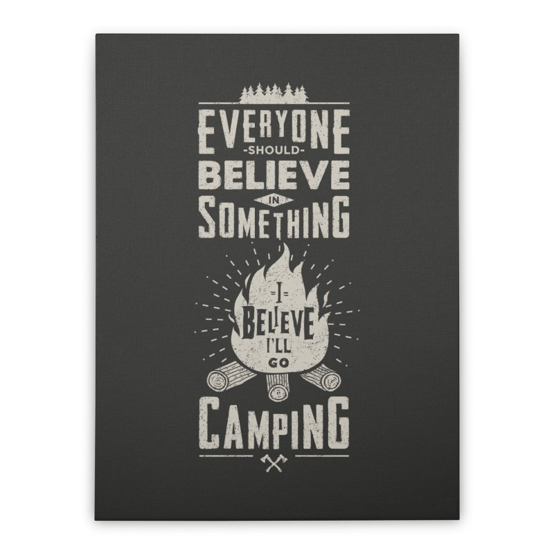 Camping v2 Home Stretched Canvas by Gabriel Mihai Artist Shop