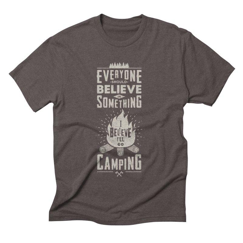 Camping v2 Men's Triblend T-shirt by Gabriel Mihai Artist Shop