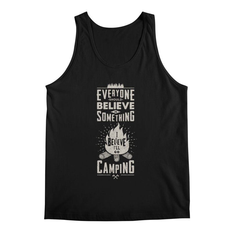 Camping v2 Men's Tank by Gabriel Mihai Artist Shop