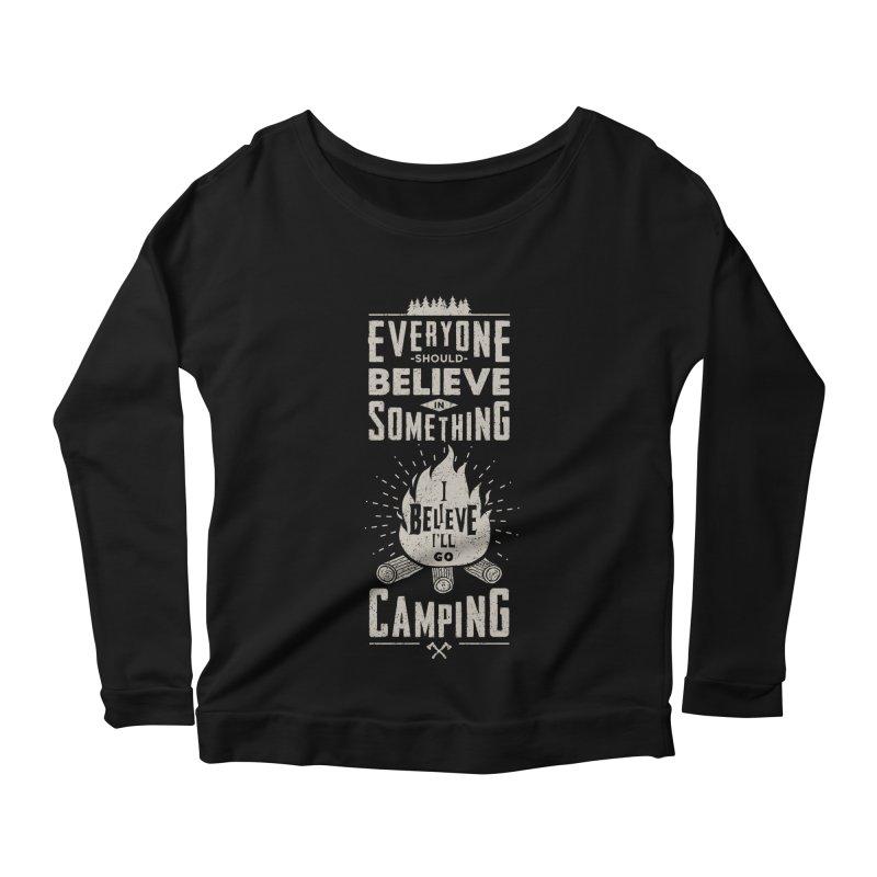Camping v2 Women's Scoop Neck Longsleeve T-Shirt by Gabriel Mihai Artist Shop
