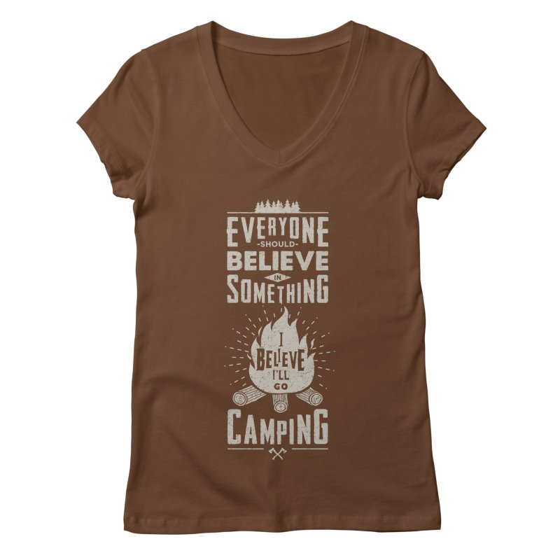 Camping v2 Women's Regular V-Neck by Gabriel Mihai Artist Shop
