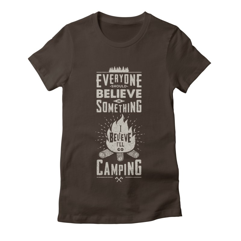 Camping v2 Women's Fitted T-Shirt by Gabriel Mihai Artist Shop