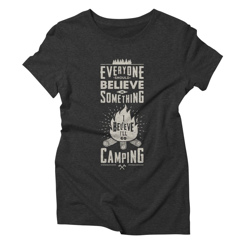 Camping v2 Women's Triblend T-Shirt by Gabriel Mihai Artist Shop