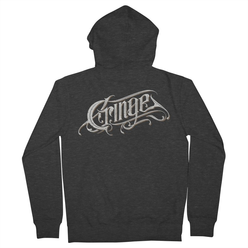 Cringe Men's French Terry Zip-Up Hoody by Gabriel Mihai Artist Shop