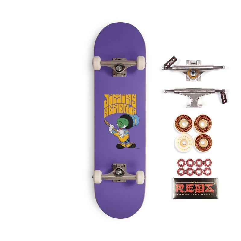 Jiminy Hendrix no background Accessories Skateboard by Snapcracklepop's Artist Shop
