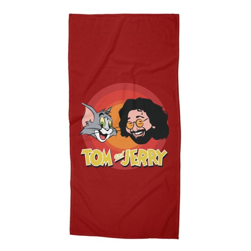 Tom & Jerry Accessories Beach Towel by Snapcracklepop's Artist Shop