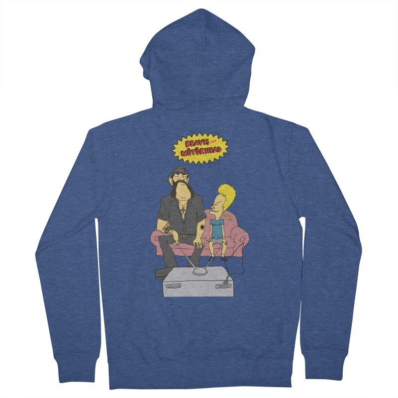 Beavis and Mötörhead Men's Zip-Up Hoody by Snapcracklepop's Artist Shop