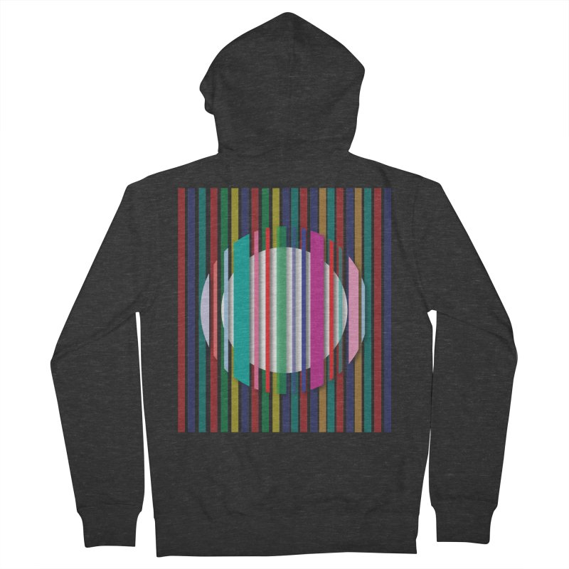 Abstract_with_stripes Women's French Terry Zip-Up Hoody by snapdragon64's Shop