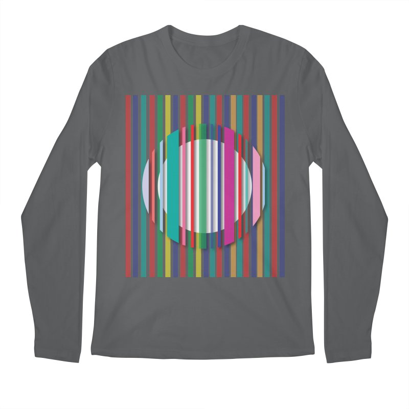 Abstract_with_stripes Men's Regular Longsleeve T-Shirt by snapdragon64's Shop