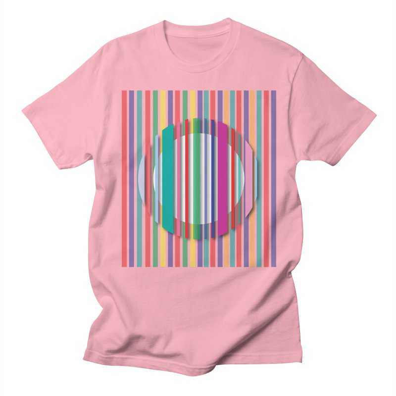 Abstract_with_stripes Men's Regular T-Shirt by snapdragon64's Shop