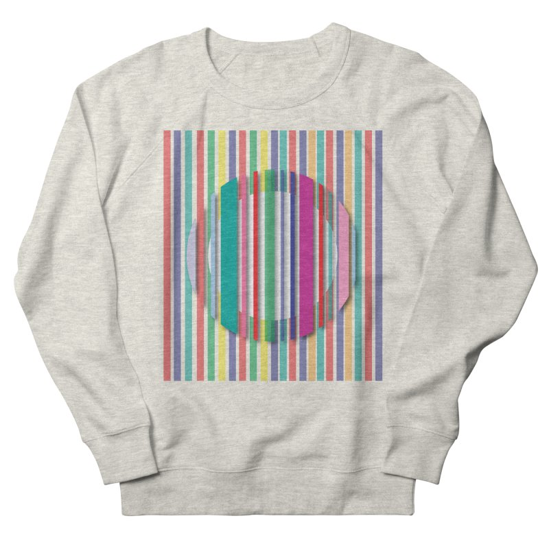 Abstract_with_stripes Men's French Terry Sweatshirt by snapdragon64's Shop