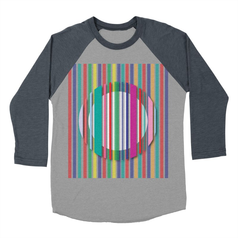 Abstract_with_stripes Women's Baseball Triblend T-Shirt by snapdragon64's Shop