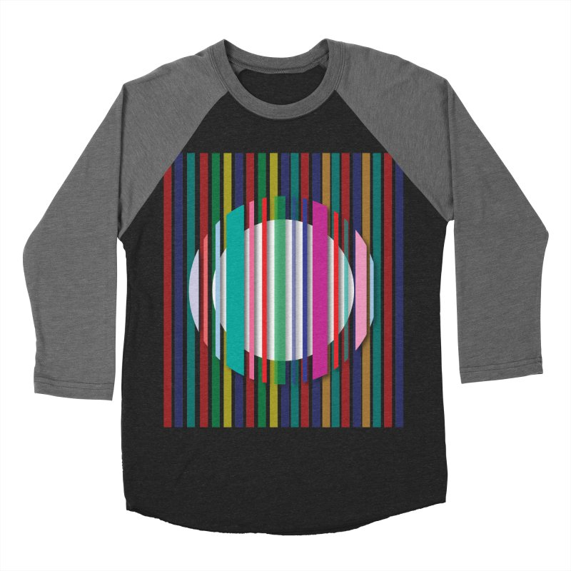 Abstract_with_stripes Men's Baseball Triblend T-Shirt by snapdragon64's Shop