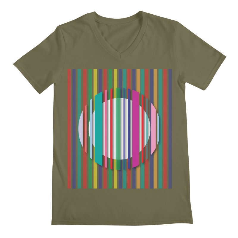 Abstract_with_stripes Men's V-Neck by snapdragon64's Shop