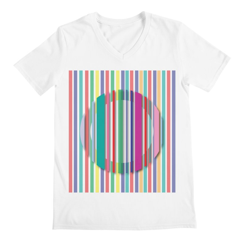 Abstract_with_stripes Men's Regular V-Neck by snapdragon64's Shop