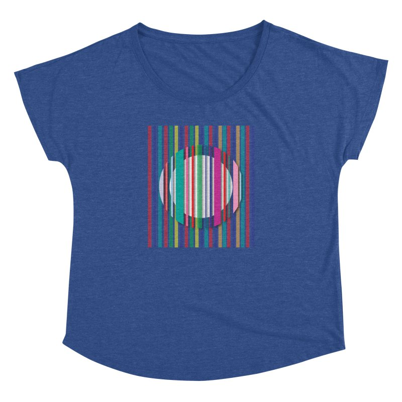 Abstract_with_stripes Women's Dolman Scoop Neck by snapdragon64's Shop