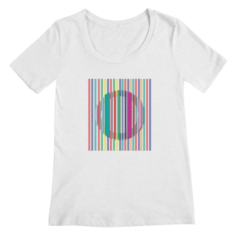 Abstract_with_stripes Women's Scoop Neck by snapdragon64's Shop