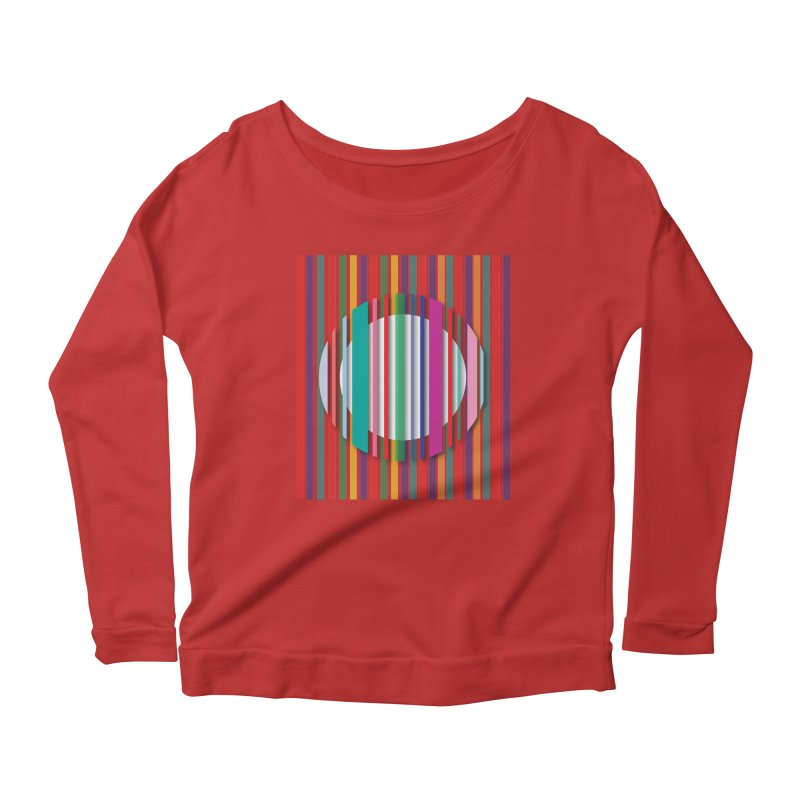 Abstract_with_stripes Women's Scoop Neck Longsleeve T-Shirt by snapdragon64's Shop