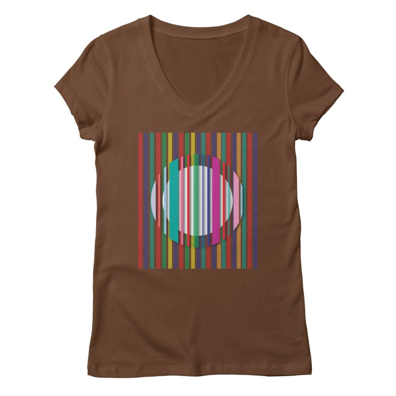 Abstract_with_stripes Women's Regular V-Neck by snapdragon64's Shop