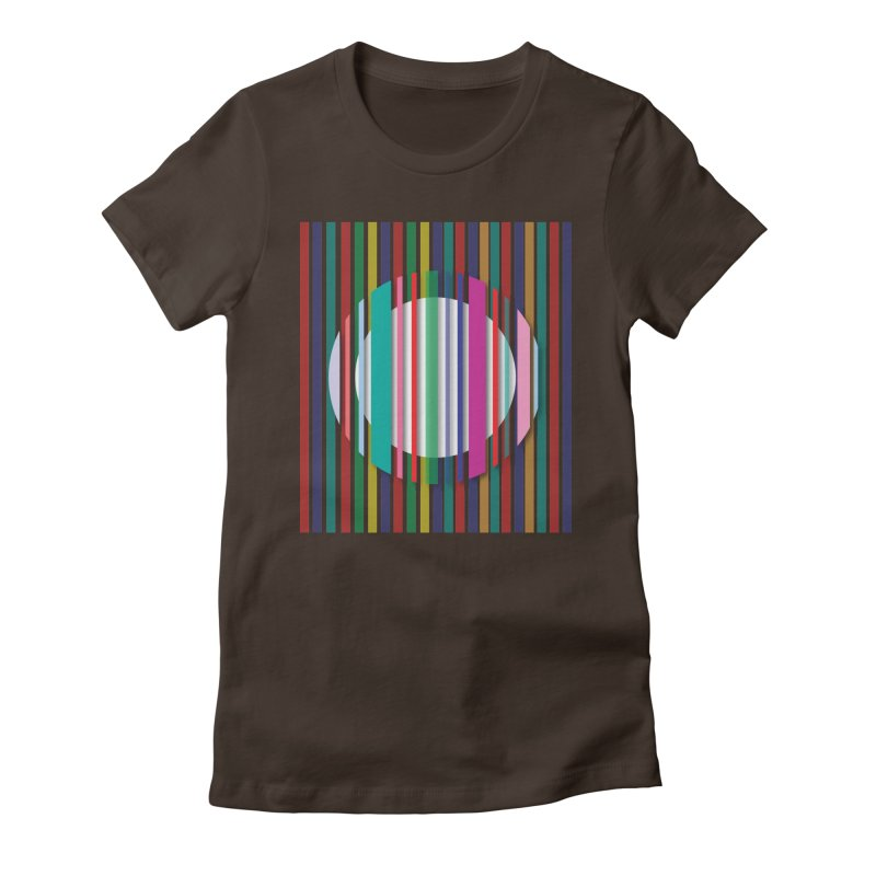 Abstract_with_stripes Women's Fitted T-Shirt by snapdragon64's Shop