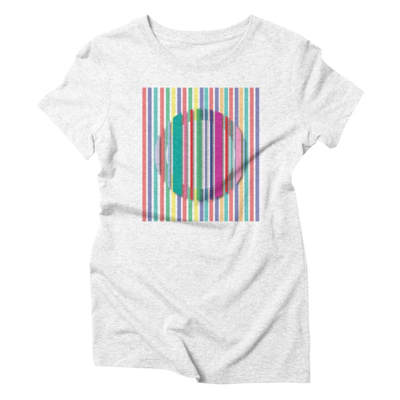 Abstract_with_stripes Women's Triblend T-shirt by snapdragon64's Shop