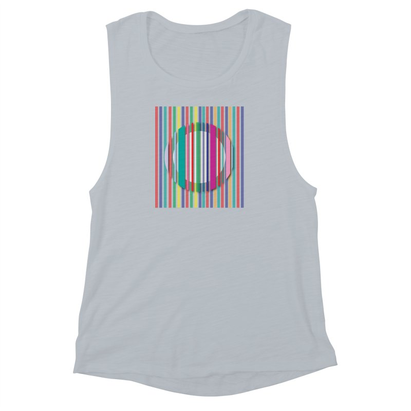 Abstract_with_stripes Women's Muscle Tank by snapdragon64's Shop