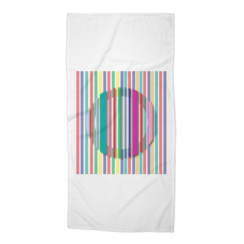 Abstract_with_stripes Accessories Beach Towel by snapdragon64's Shop