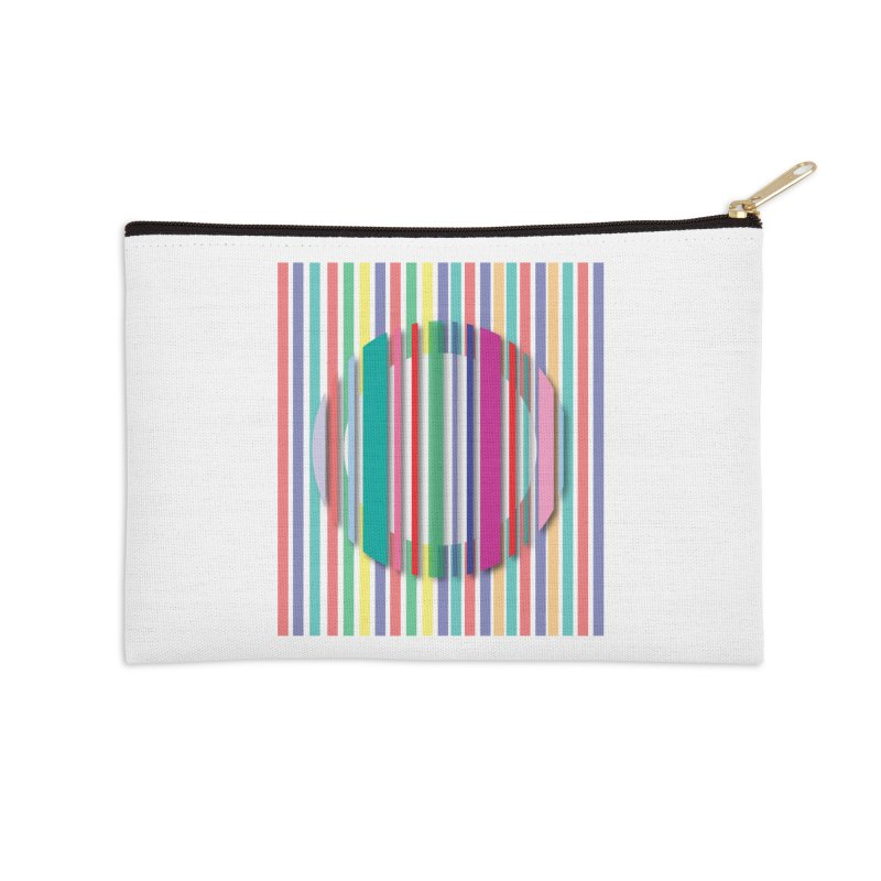 Abstract_with_stripes Accessories Zip Pouch by snapdragon64's Shop
