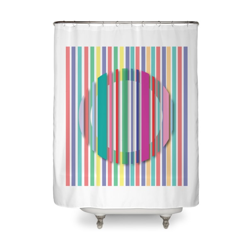 Abstract_with_stripes Home Shower Curtain by snapdragon64's Shop