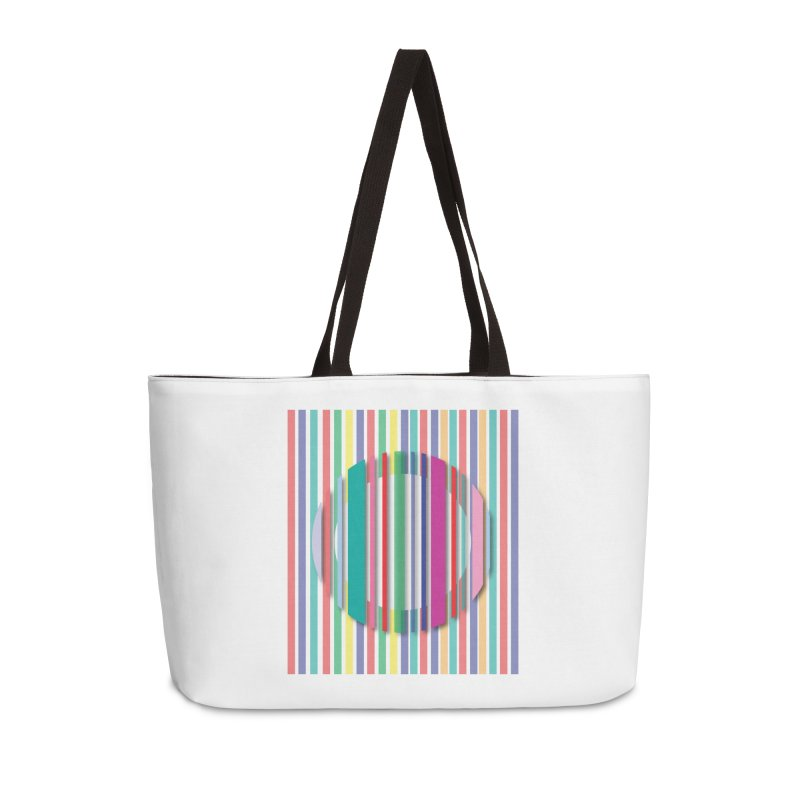 Abstract_with_stripes Accessories Weekender Bag Bag by snapdragon64's Shop