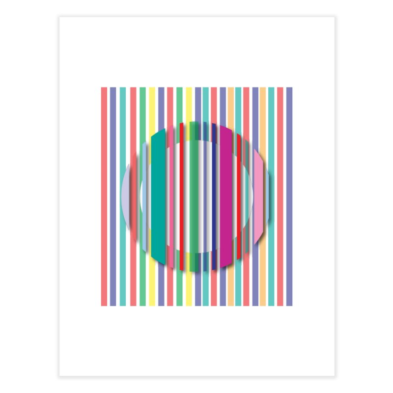 Abstract_with_stripes Home Fine Art Print by snapdragon64's Shop