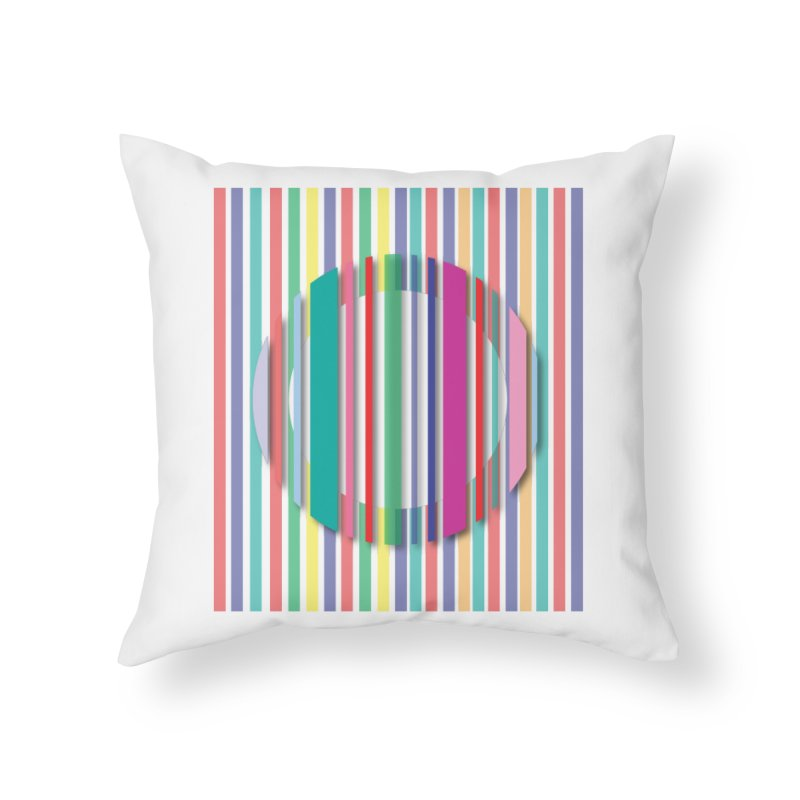 Abstract_with_stripes Home Throw Pillow by snapdragon64's Shop