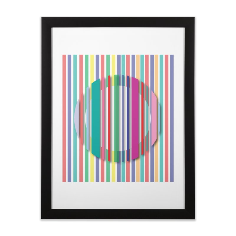 Abstract_with_stripes Home Framed Fine Art Print by snapdragon64's Shop