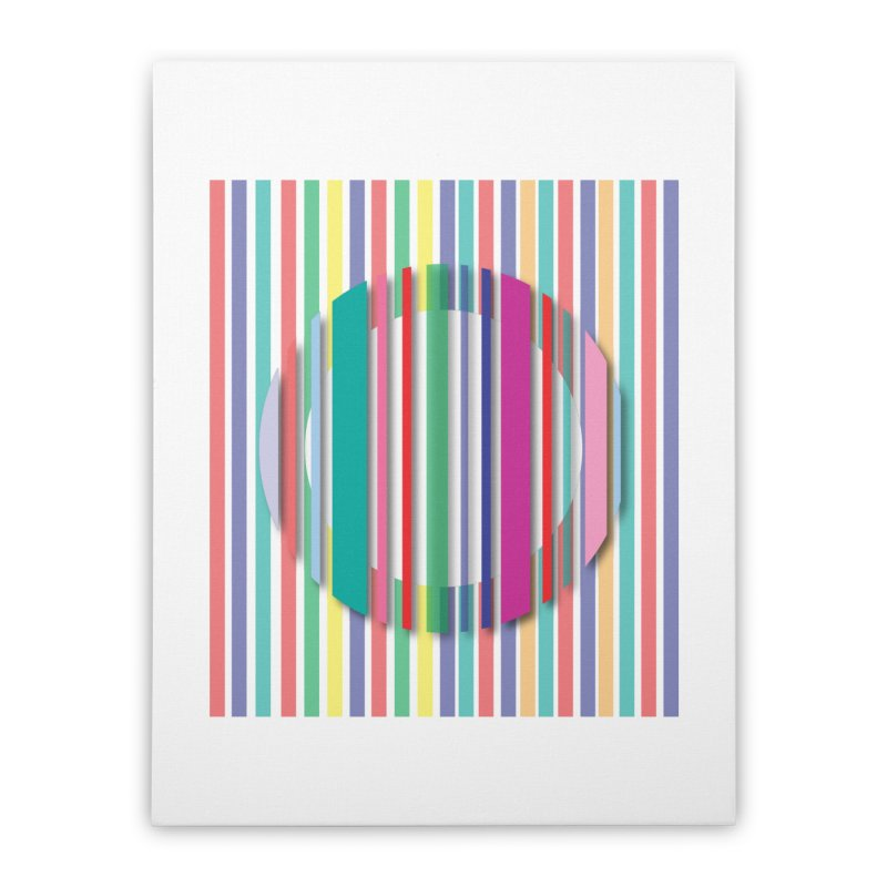 Abstract_with_stripes Home Stretched Canvas by snapdragon64's Shop