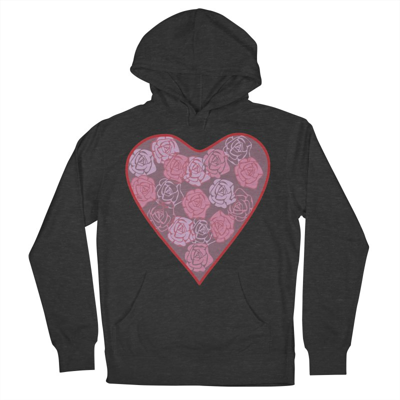 Heart filled with flowers Women's French Terry Pullover Hoody by snapdragon64's Shop