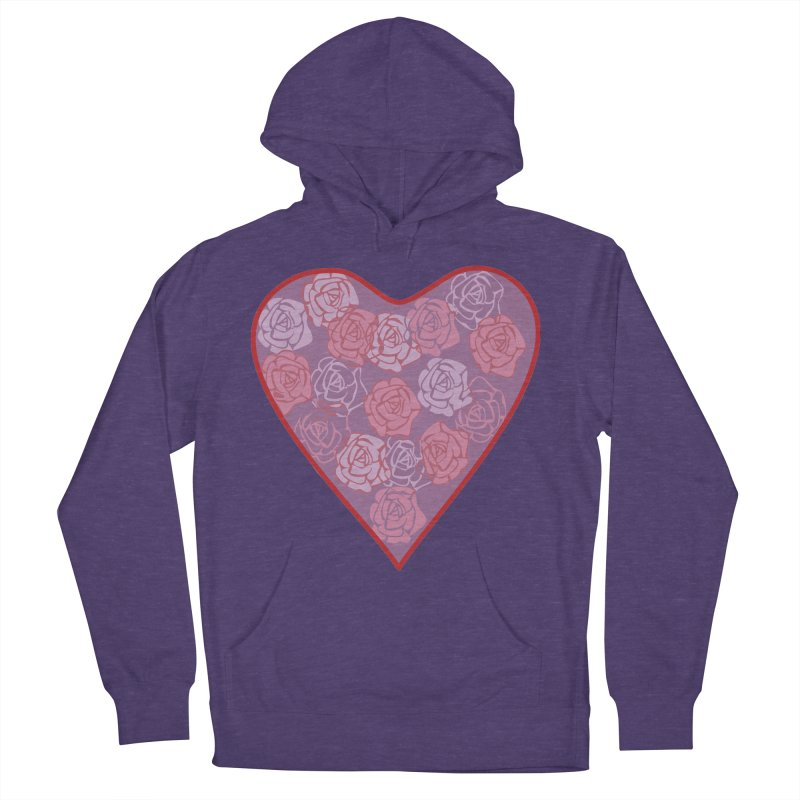 Heart filled with flowers Women's Pullover Hoody by snapdragon64's Shop
