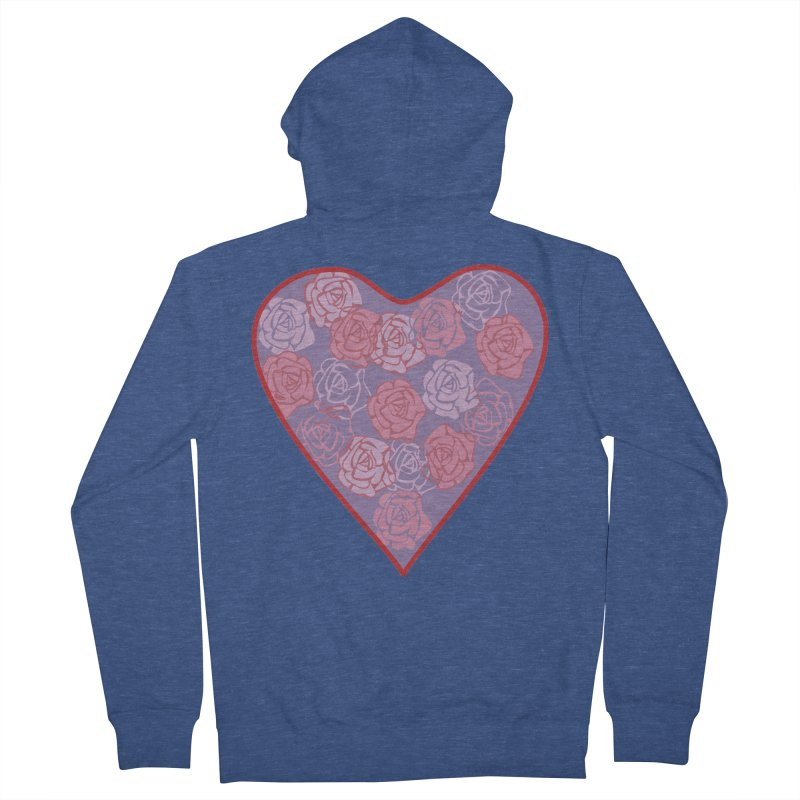 Heart filled with flowers Women's Zip-Up Hoody by snapdragon64's Shop