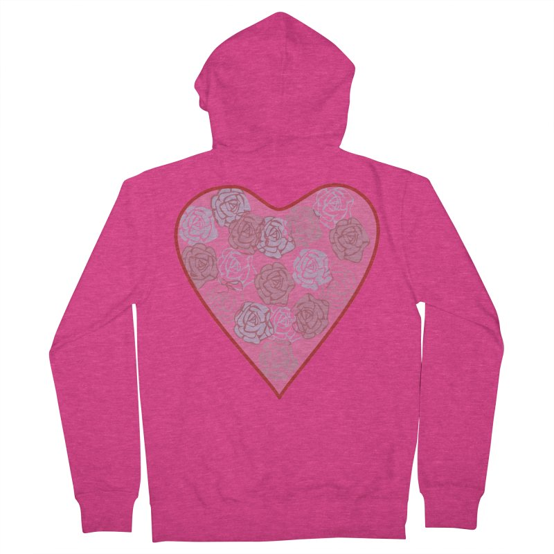 Heart filled with flowers Women's French Terry Zip-Up Hoody by snapdragon64's Shop