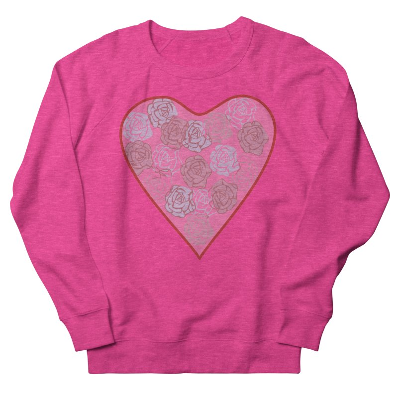 Heart filled with flowers Women's Sweatshirt by snapdragon64's Shop