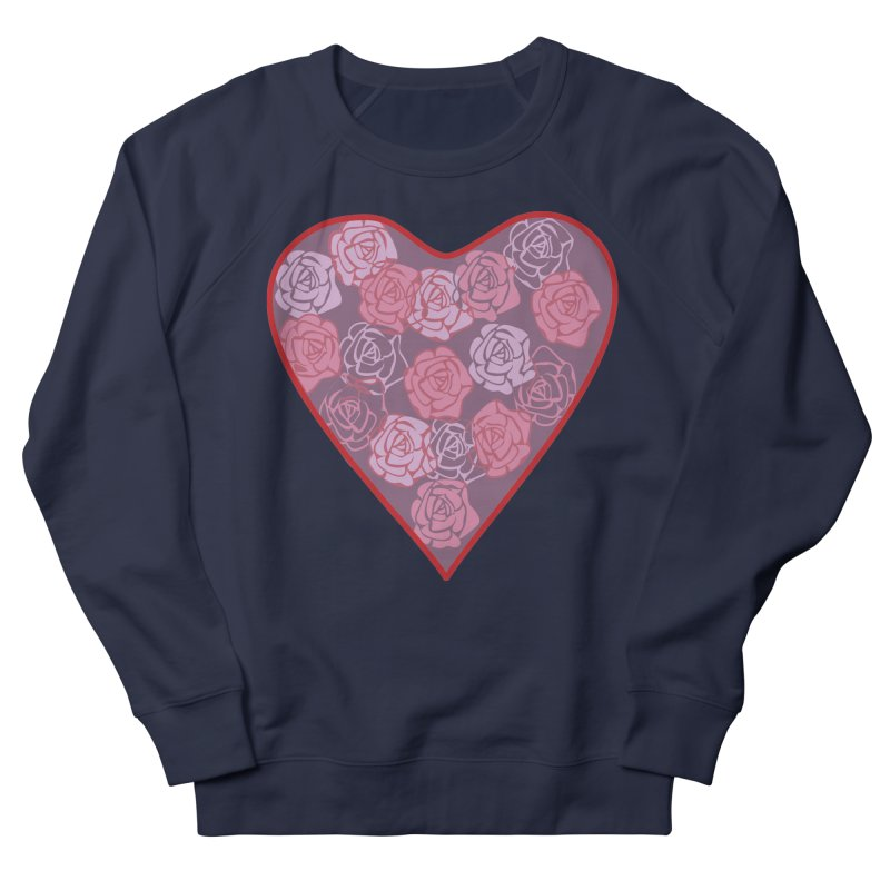 Heart filled with flowers Women's French Terry Sweatshirt by snapdragon64's Shop