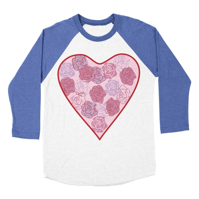 Heart filled with flowers Women's Baseball Triblend T-Shirt by snapdragon64's Shop