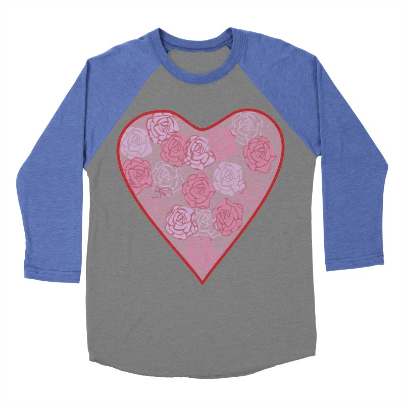 Heart filled with flowers Women's Baseball Triblend Longsleeve T-Shirt by snapdragon64's Shop