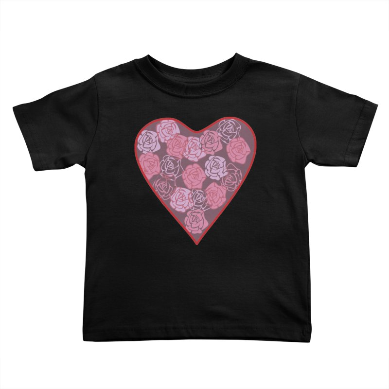 Heart filled with flowers Kids Toddler T-Shirt by snapdragon64's Shop