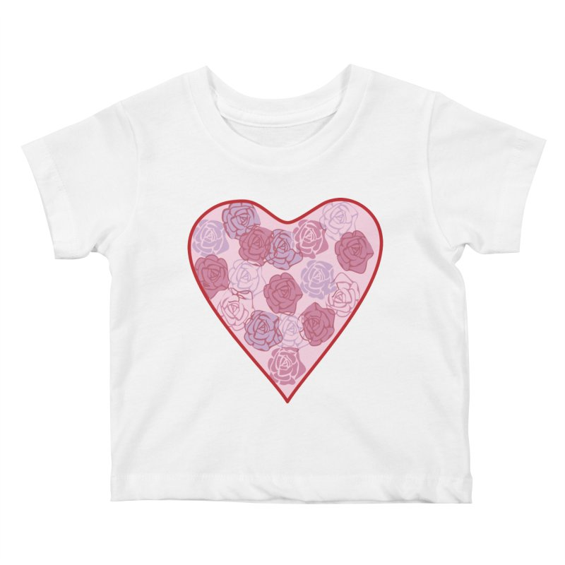 Heart filled with flowers Kids Baby T-Shirt by snapdragon64's Shop