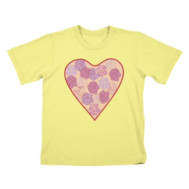 Heart filled with flowers Kids T-shirt by snapdragon64's Shop