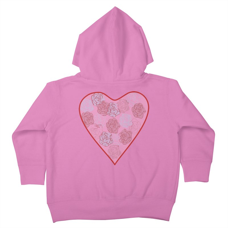 Heart filled with flowers Kids Toddler Zip-Up Hoody by snapdragon64's Shop